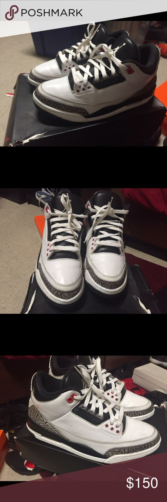 Jordan 3 Infrared, size 9.5 Jordan 3 Infrared, size 9.5. Have been worn multiple times, slightly restored in some areas, still in pretty good shape. 6/10 condition. If you are interested, Please contact me! Do not purchase through Poshmark 864-245-6027. This will allow me to drop the prices of merchandise and you get a much better deal. Thanks Jordan Shoes Sneakers
