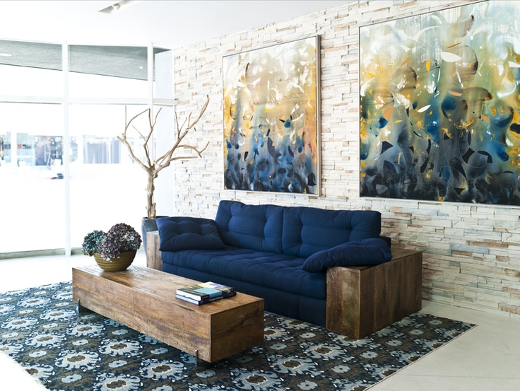 Studio Sofa W/ Peroba Arms And Beam Coffee Table By Environment Furniture