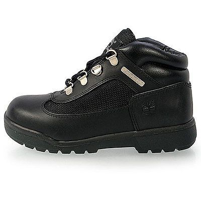 Timberland Field Boot Little Kids 15706 Black Leather Boots Shoes Youth Size 2.5