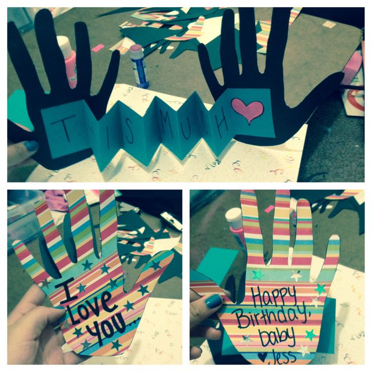 """""""I love you this much"""" Birthday card I made for my boyfriend."""