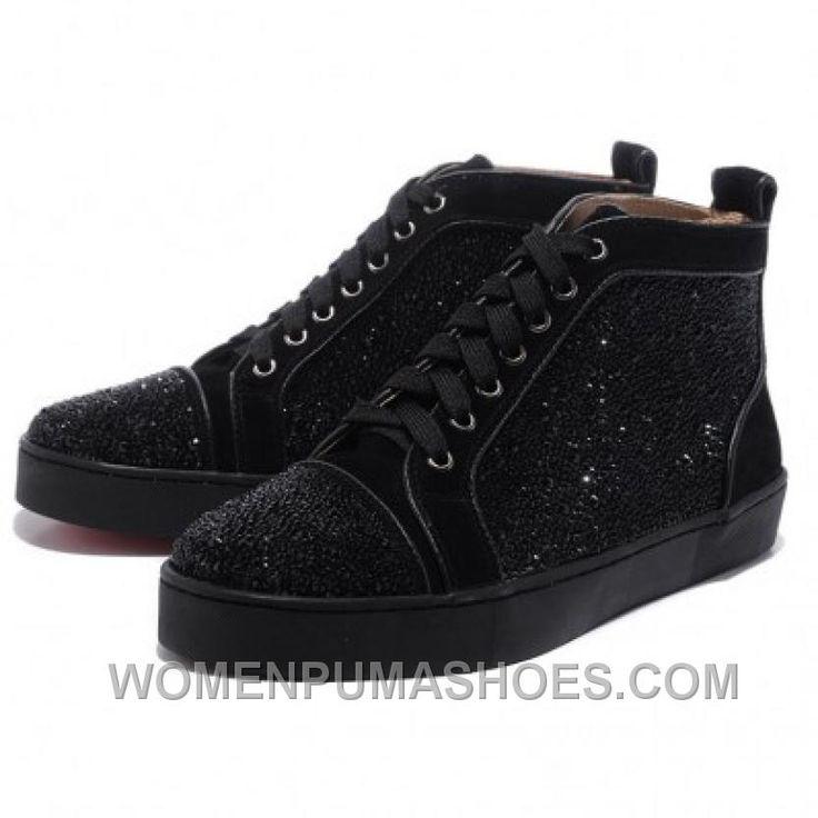 http://www.womenpumashoes.com/christian-louboutin-men-glitter-nubuck-high-top-sneakers-black-for-sale-qtcmf.html CHRISTIAN LOUBOUTIN MEN GLITTER NUBUCK HIGH TOP SNEAKERS BLACK FOR SALE QTCMF Only $146.00 , Free Shipping!