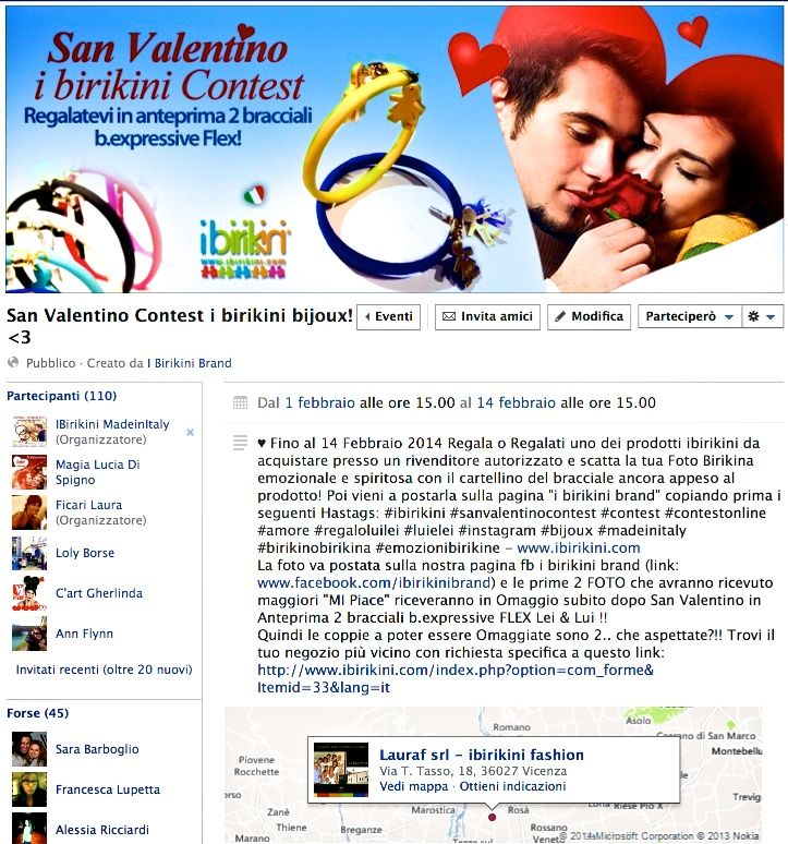 San Valentino Contest su Facebook!! PARTECIPA & CONDIVIDI con le Amiche !!  Link Evento: https://www.facebook.com/events/193248424200062/ #sanvalentino #bijoux #ibirikinishops #ibirikini #ibirikinibrand #braccialetti #contestitalia #italianstyle #modaitaliana #bexpressiveflex #braccialiflex #regaloluilei #love #amore #cuore #flexbijoux #flex #ibirikiniflex