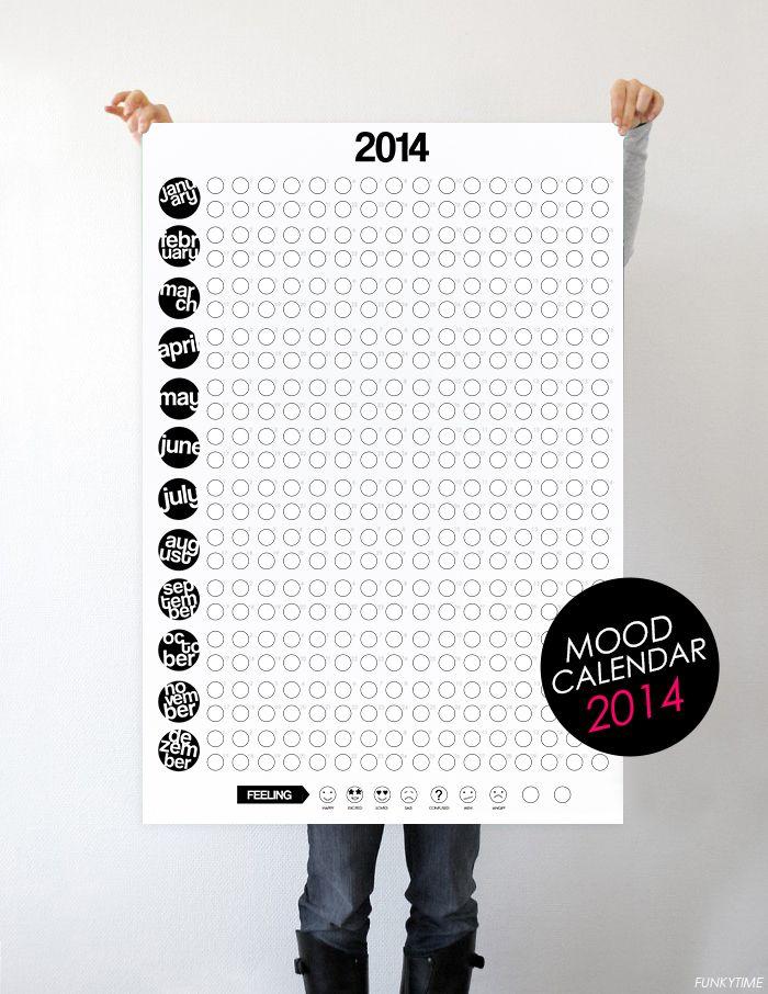 Mood Calendar 2014