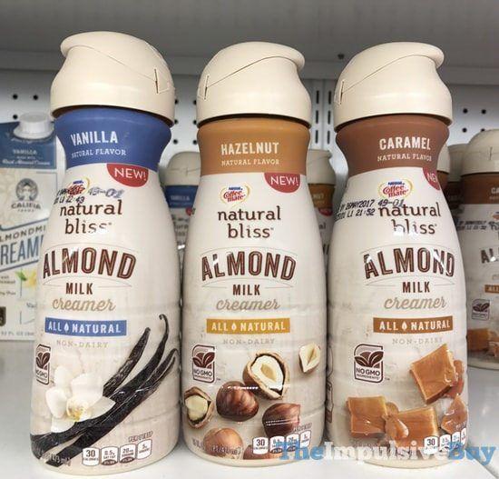 Nestle Coffee-mate Natural Bliss Almond Milk Creamer (Vanilla, Hazelnut, and Caramel)