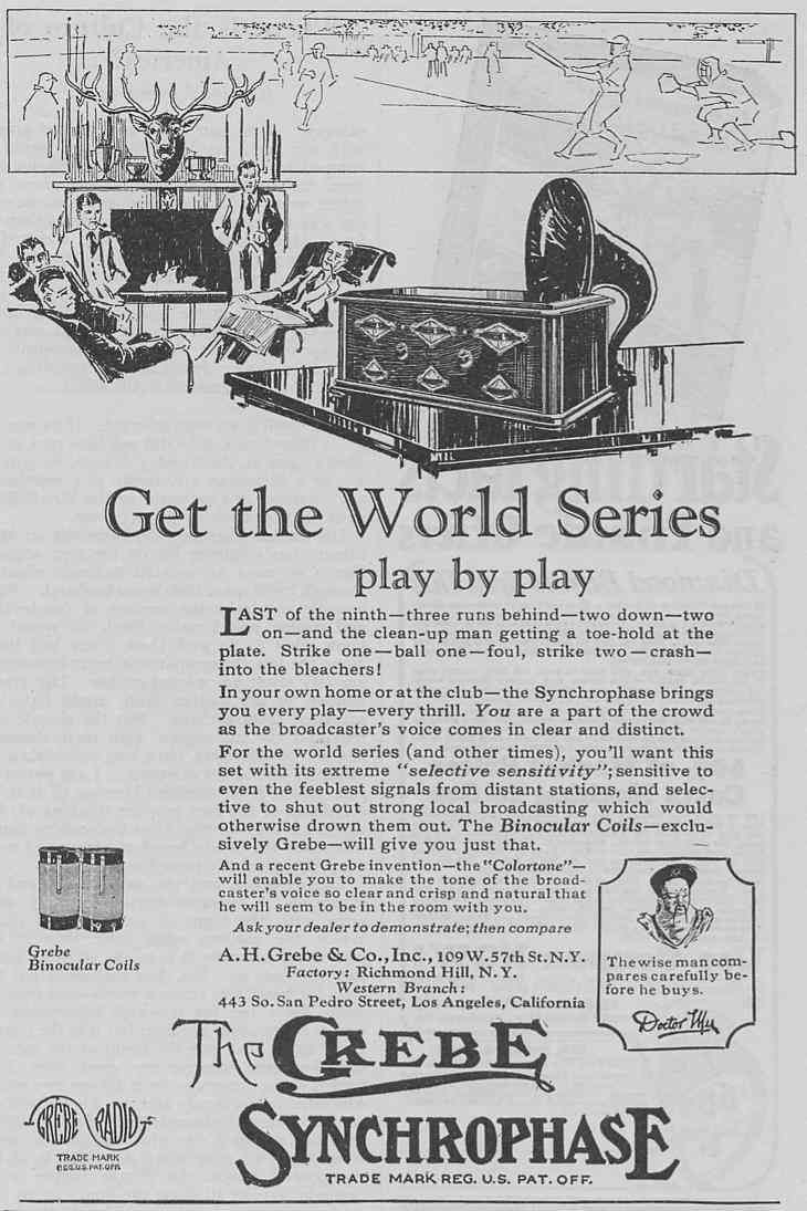 A rare image from The Elks Magazine of October 1925 featuring the upcoming World Series  All images courtesy David P. Whistler