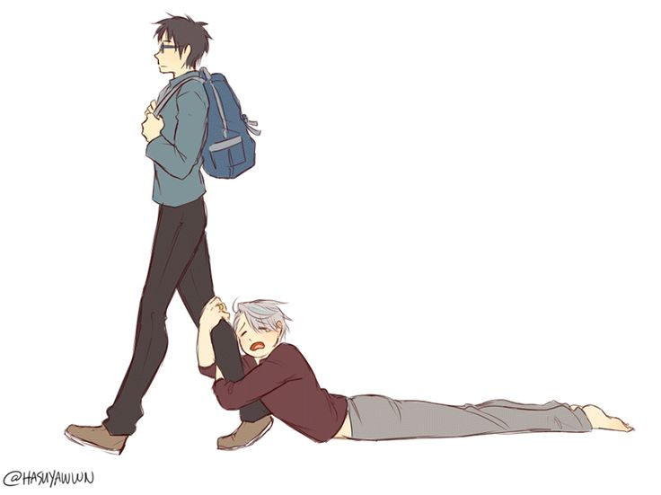 """""""When Your Dumb Clingy Husband is Being a Pain in the Neck"""" aka yuuri can't get anything done ever (this was a lot of fun omfg i love these two sighs)"""