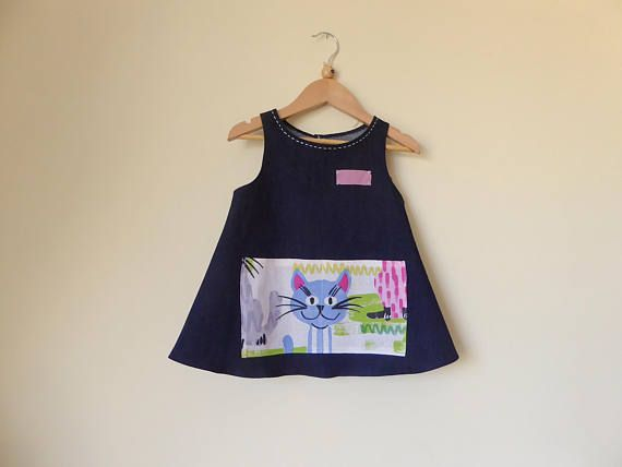 Denim Apron for Girls 5 for carefree play Size 5