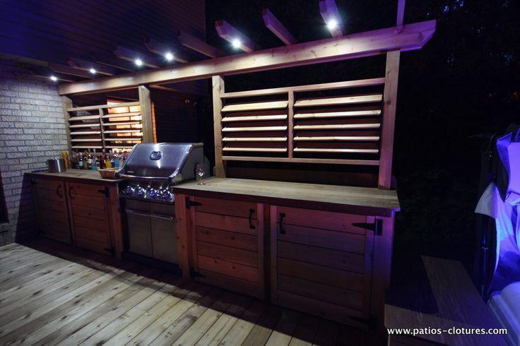 Außenküche mit Beleuchtung – PATIOS EN BOIS – aubenkuche.diyhomedesigner.com