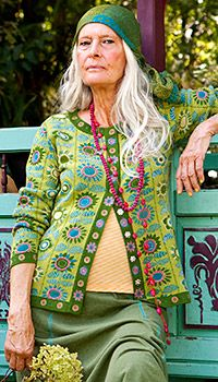 Want to look this cool when I'm her age....body confidence, owns her style, respect - Gudrun Sjödén