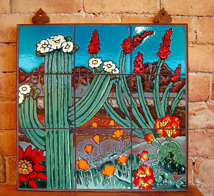 Saguaro Landscape Carly Quinn Tucson Az Mosaic Tile