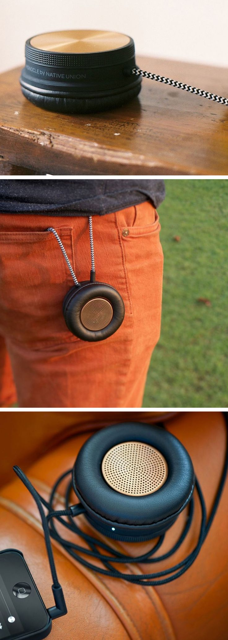 Limited Edition Monocle // it's a speaker, handset and speakerphone that allows you to enjoy music and calls in a fresh new way - however and wherever you are #product_design #industrial_design