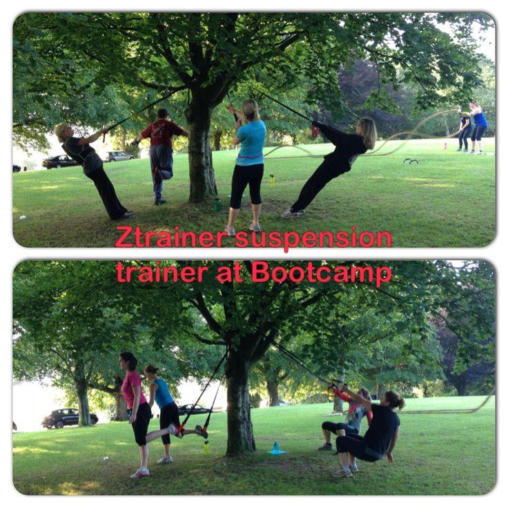 #ztrainer #suspension Training at #zest #bootcamp #bath - outdoor #fitness rocks!