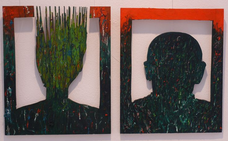 aatoth franyo: Lilly egy ismeretlennel / Lilly with an Unknown Person					2011 - 2x(52x43) cm - olaj, vászon/ oil on canvas