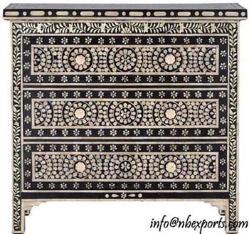 Indian chest with camel bone inlay