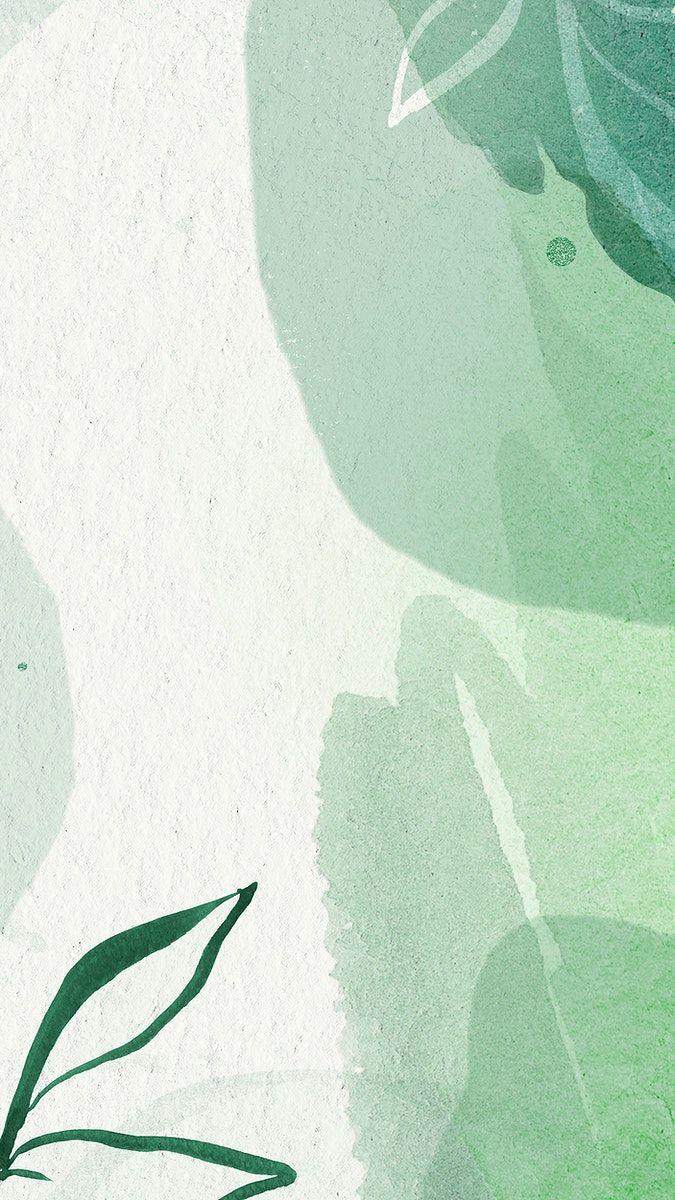 Download Premium Illustration Of Green Watercolor Memphis Mobile Wallpaper Iphone Wallpaper Green Mint Green Wallpaper Iphone Green Wallpaper