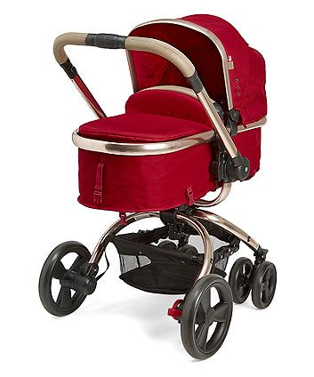 in Liquorice £429 The Mothercare Orb Pram and Pushchair has a unique one hand rotation that allows you to quickly convert from forward to parent-facing mode, and is travel system compatible to suit the needs of your family.