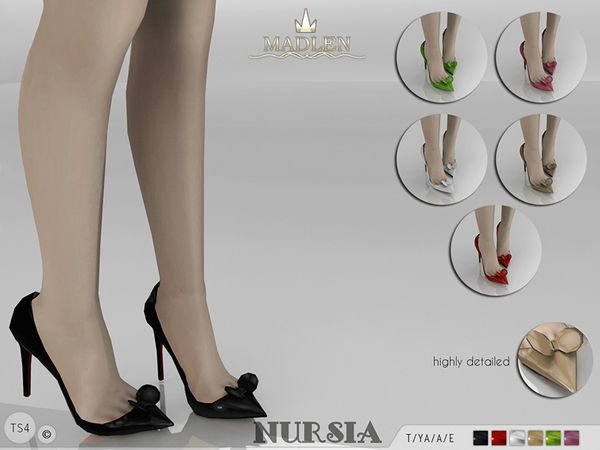 Madlen Nursia Shoes Found in TSR Category 'Sims 4 Shoes Female'