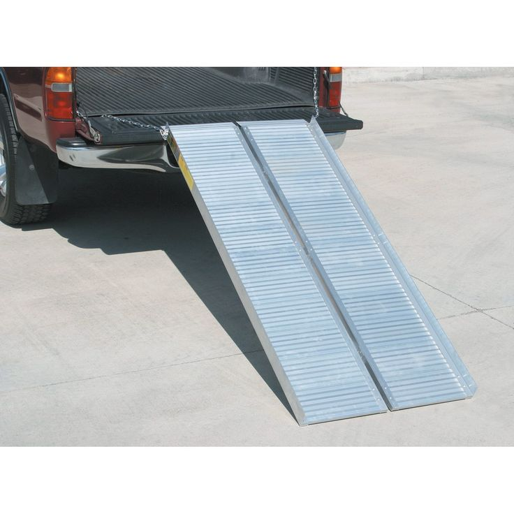 1200 Lb Capacity 30 1 4 In X 72 In Convertible Aluminum Loading Ramp Loading Ramps And Wheels