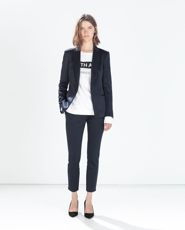 zara woman combined office. Image 1 Of TECHNICAL FABRIC BLAZER From Zara Woman Combined Office