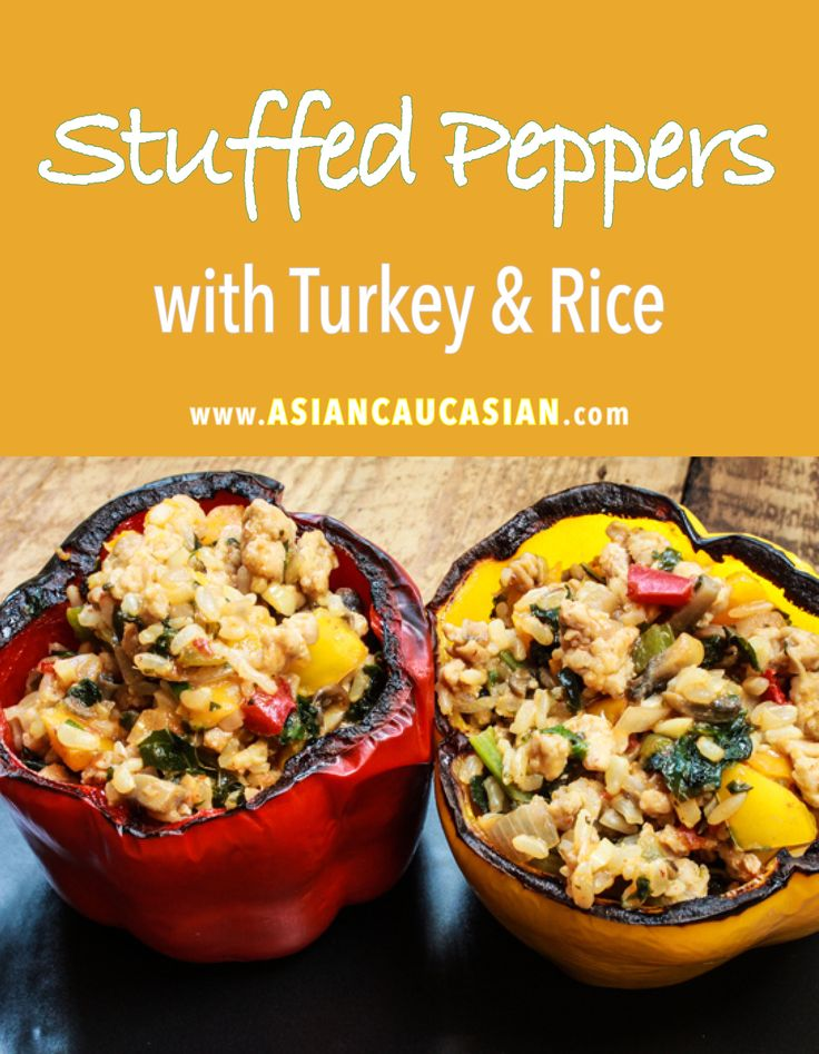 Asian Stuffed Peppers with Turkey & Rice
