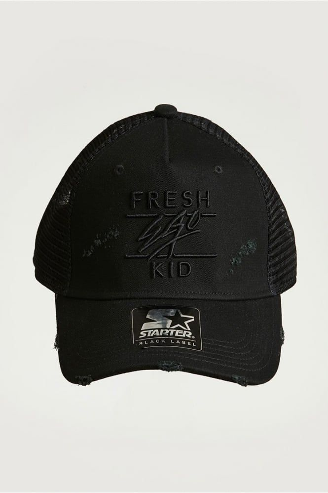 6862485d192 Distressed Mesh Trucker Cap Black  freshegokid