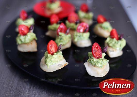 Avocado Cream, Tomato & Chive Perogies! Recipe: http://pelmen.com/recipe?id=151#.WSWoYfnyuUk