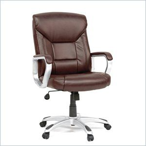 Sauder Executive Chair Leather Brown in Chair Brown