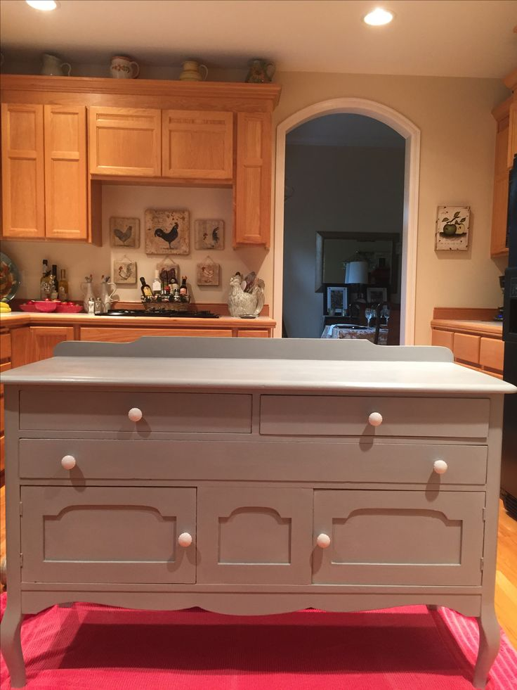 After...painted with Ann Sloan Paris Grey chalk paint ...