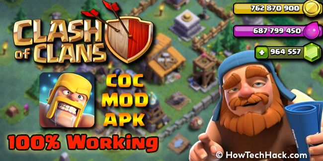 Updated Clash Of Clans Mod Apk 2019 Unlimited Gold Elixir
