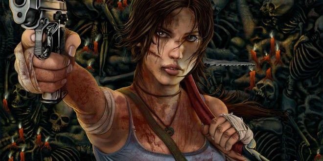 Tomb Raider 2013 Pistols Hands Blood Lara Croft Games Girls wallpaper