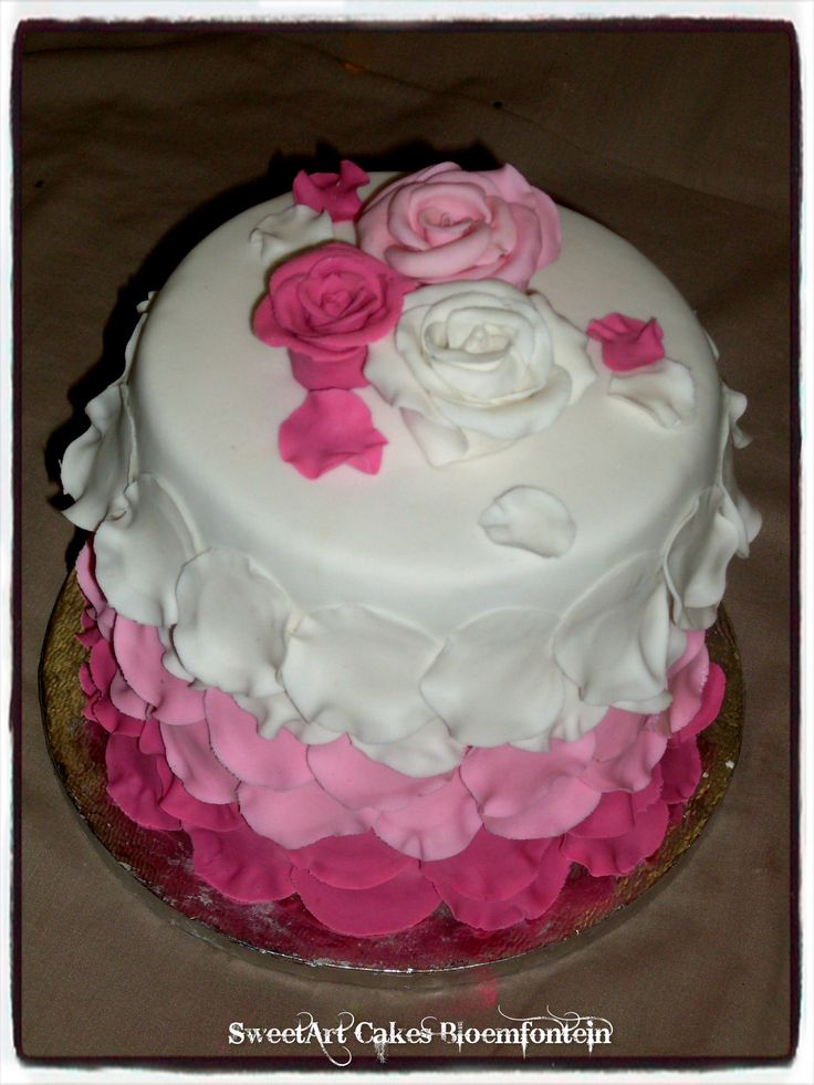 ROSE PETAL CAKE Visit our website:  Sweetartbfn.wix.com/home  For more information & orders email SweetArtbfn@gmail.com or call 0712127786.