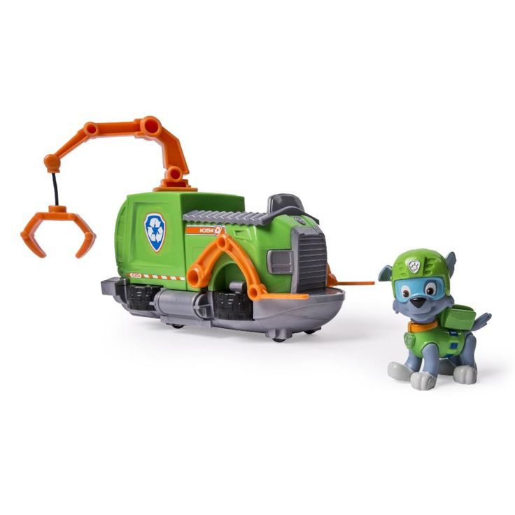 Nickelodeon Paw Patrol Rocky's Tugboat Vehicle and Figure