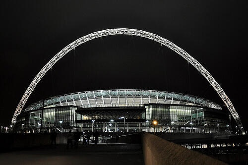 Wembley Stadium - 90,000-capacity venue (105,000 combined seating and standing) is the second largest stadium in Europe, and serves as England's national stadium. It is the sole home venue of the England national football team.