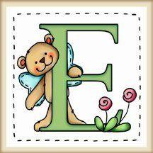 """calamita quadrata in legno di frassino """"L'alfabeto degli orsetti lettera E"""" bordo in legno naturale, idea regalo, artigianato italiano, made in Italy, con frase scritta, spiritosa, fuori stanza, appendi porta, fuori porta, tavola country, 5,5 cm x 5,5 cm"""