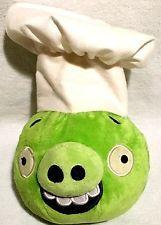 RARE-Angry Birds Plush Chef Piggy Rare W/ white Hat