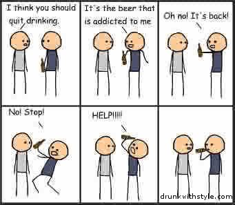 Quit Drinking Comic Humor Beer Addict: Comic Humor, Quit Drinks, Quit Drinking, Humor Beer, Poor Beer, Drinks Comic, Beer Addiction, Beer Attack, Funny Cool