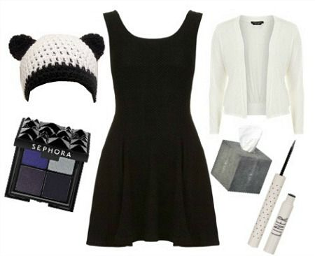 13 Little Black Dress Halloween Costumer Ideas: There's a panda one!