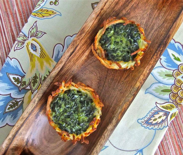 Crispy, elegant easy to make potato and spinach nests. An award winning recipe!