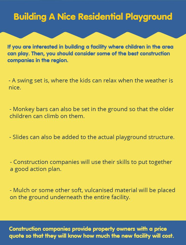 It is very good idea to build a playground at home.  For this, you need to search the best construction company that can build a residential playground. Read out some tips that you need to consider if building a residential playground. #commercialplayequipment #playequipment