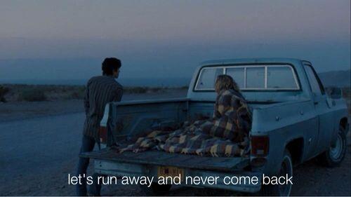 Run away but maybe alone
