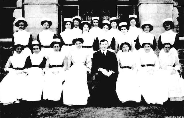 Some of the Nurses of the Claremont Hospital for the Insane, Western Australia, 1912