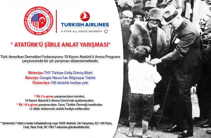 10 Kasım Atatürk'ü Şiirle Anlat Yarışması