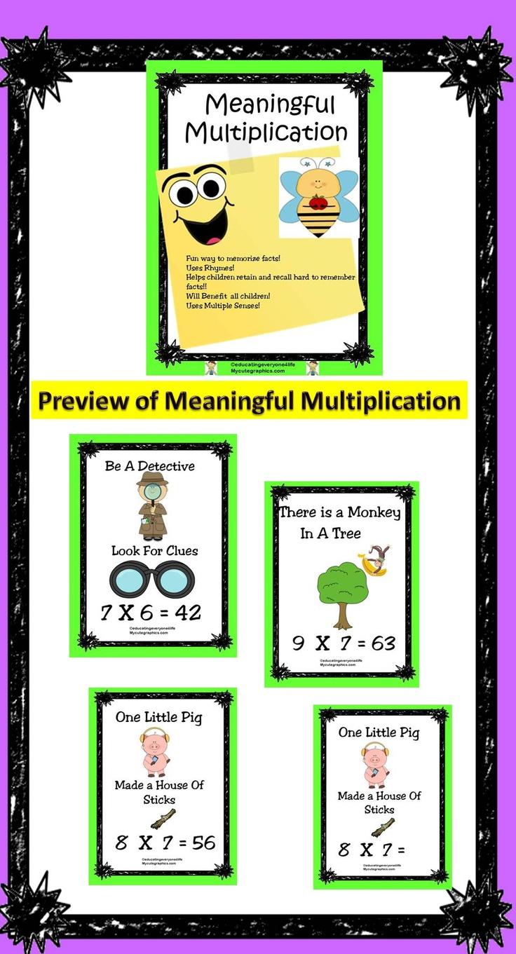 104 best multiplication images on Pinterest | Education ...