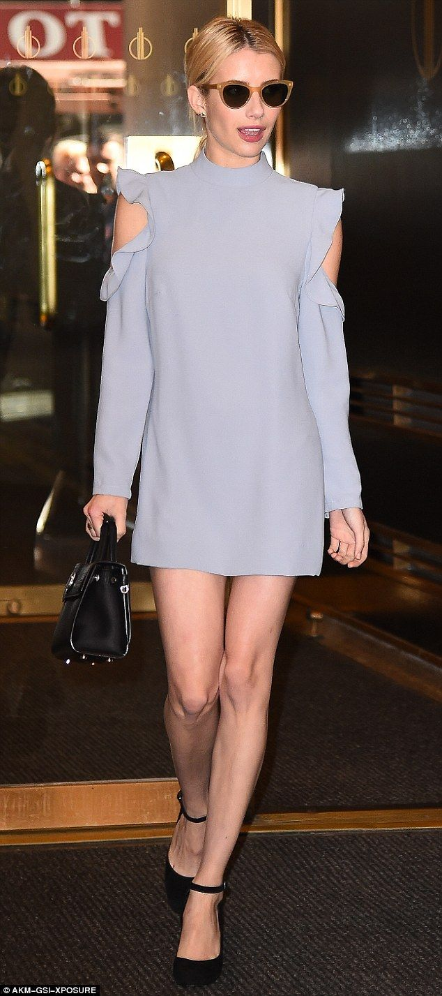 Pastel pretty: Emma Roberts, 25, hit the streets of New York City recently, in aWai Ming ...