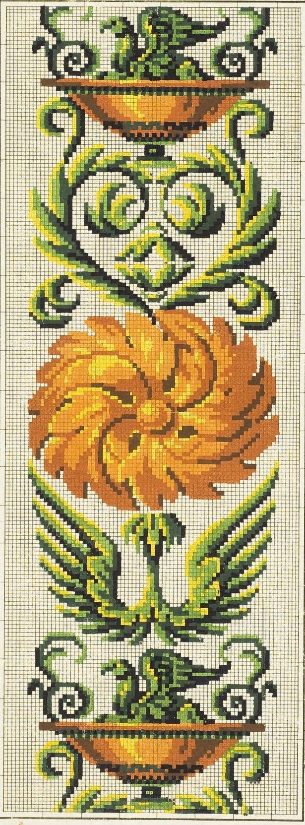 Neat Acanthus border with Griffin