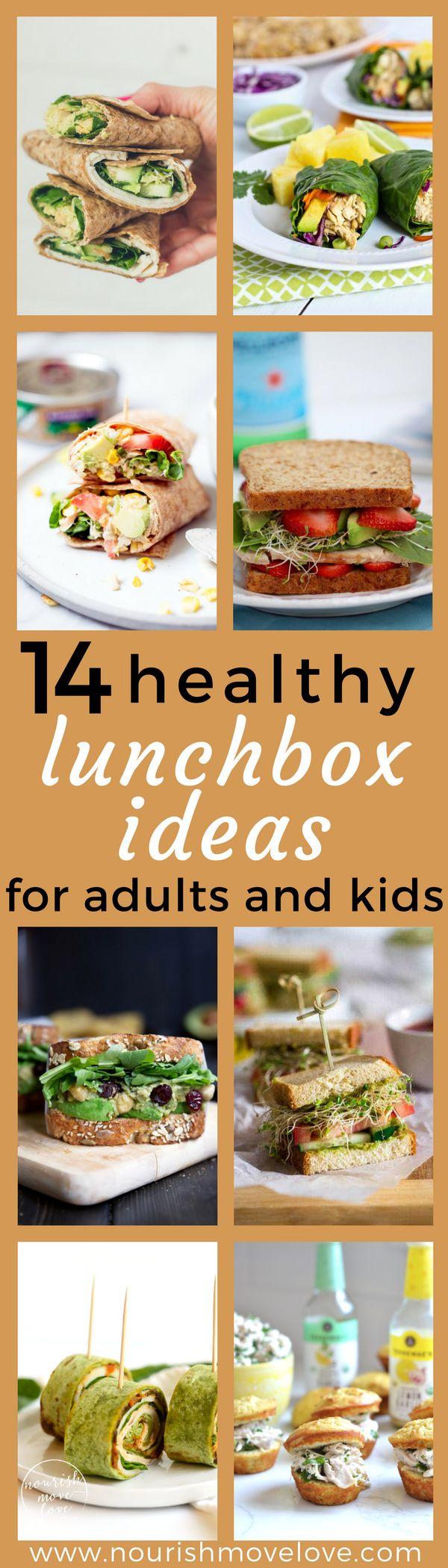 14 Healthy Lunch Box Ideas for Adults + Kids | www.nourishmovelove.com