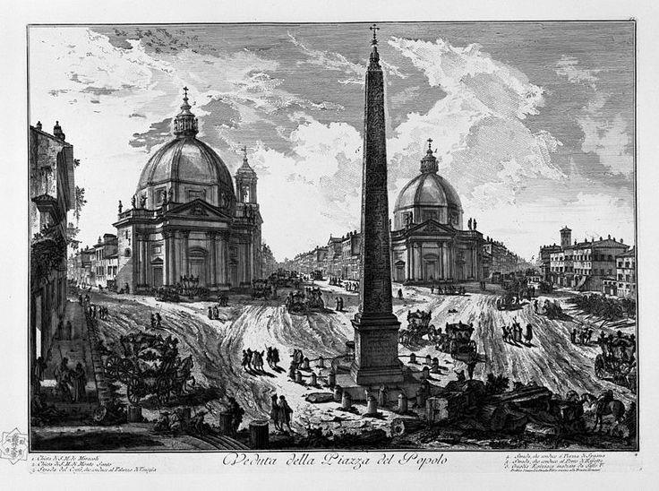Così appariva Piazza del Popolo innanzi agli occhi del Piranesi.