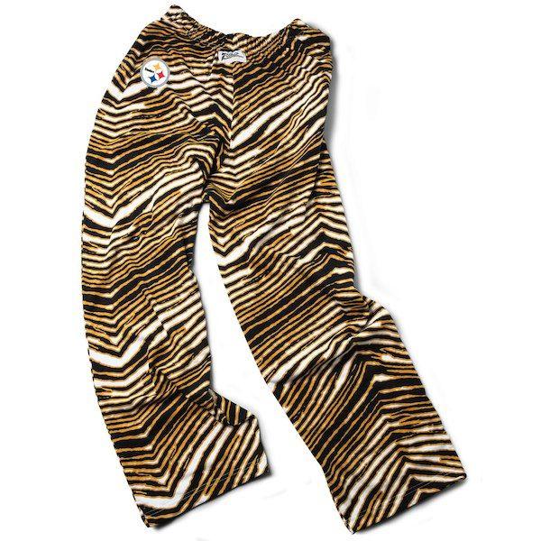 Pittsburgh Steelers Zubaz Pants Gold Black Zebra Pant Logo Pants Athletic Pants