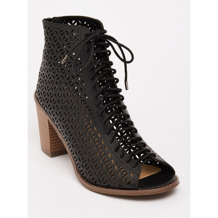 Chrissy Lace-up Heels Black