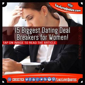 Deal breakers when dating a new girl